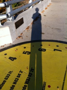 Me and My Shadow, at the Urban Ecology Center Sundial