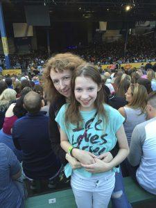 At the Ed Sheeran Concert, 2015