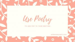 Use poetry