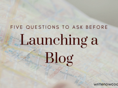 Launching a Blog