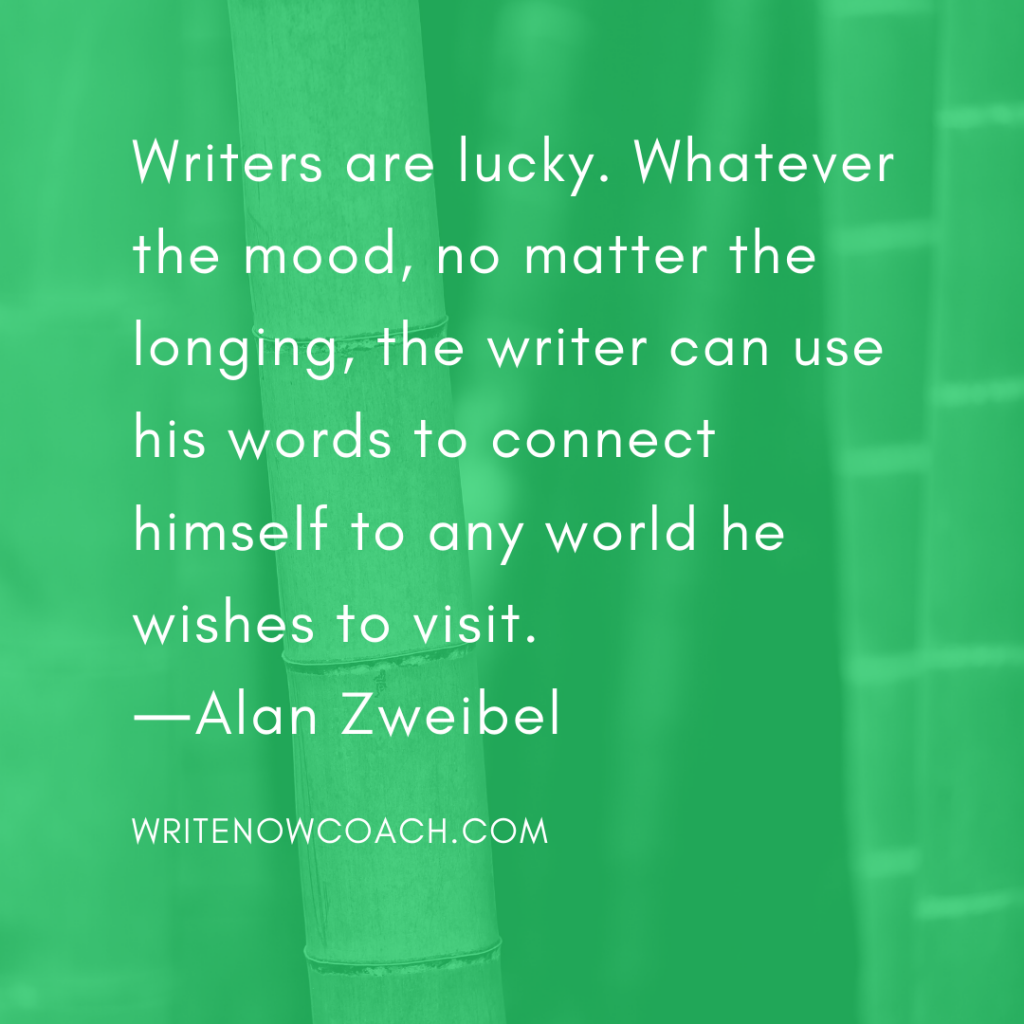 writers are lucky