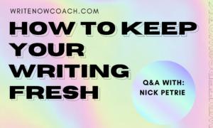 keep writing fresh